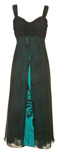 Kleid schwarz turkis